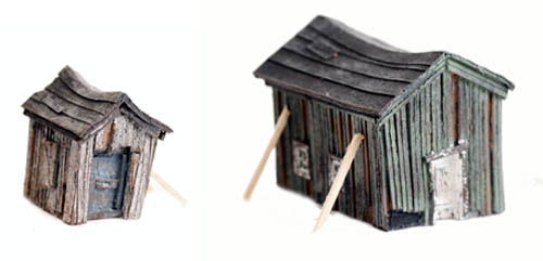 Building Falling Down : N scale quot left to rot old falling down sheds that have